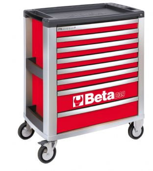 Beta C39 R/8 Mobile Roller Cab With Eight Drawers (Red)